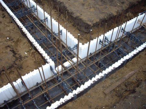 Армирование фундамента для дома из газобетона