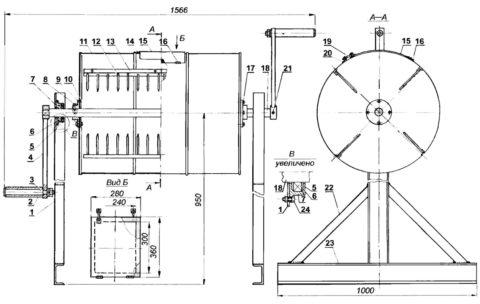 Бетономешалка из бочки - сделай сам чертеж конструкции