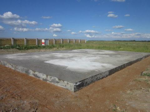 Фундамент монолитная плита для дома из газобетона