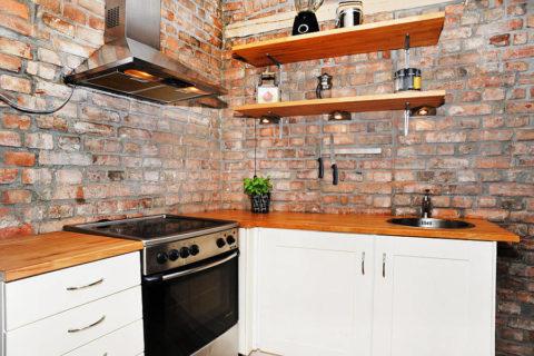 Керамический кирпич прекрасно впишется в дизайн внутренних помещений дома