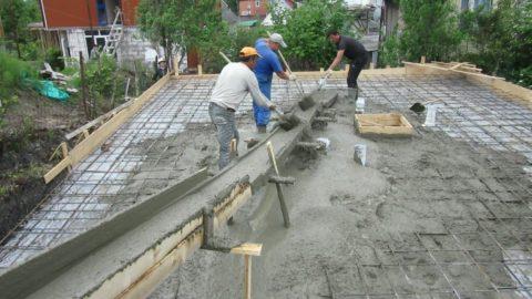 Монолитный фундамент для дома из газобетона