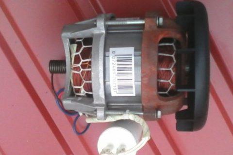 Однофазный двигатель бетономешалки