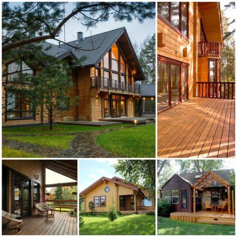 Различные варианты домов из клееного бруса
