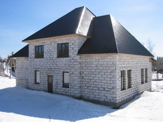 Дом из газобетона - строительство в зимний период