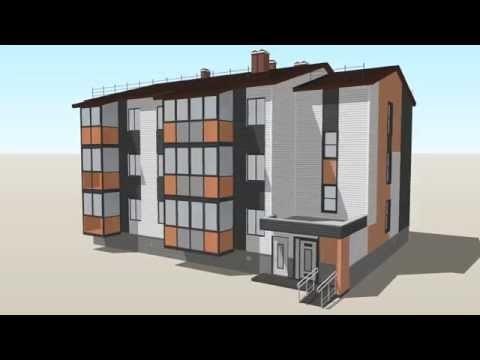 Проект – многоэтажный жилой дом из газобетона