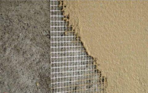 Армирование стены под шпаклевку