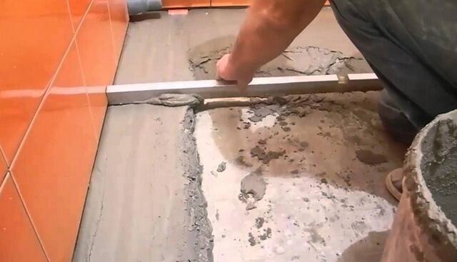 Защитная стяжка на полу из пенобетона