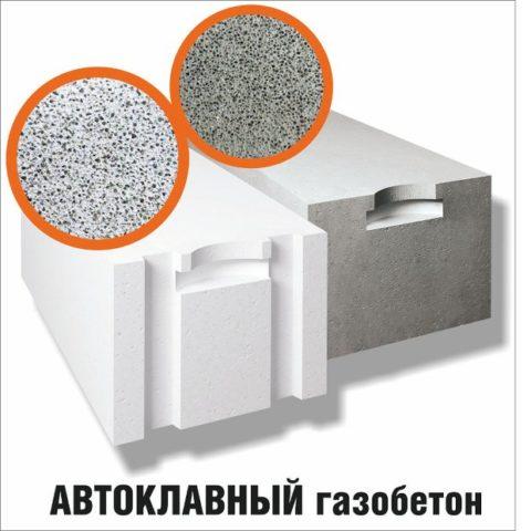 Автоклавный и неавтоклавный газобетон, фото