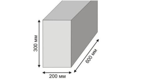 Блок из пенобетона стандартного размера