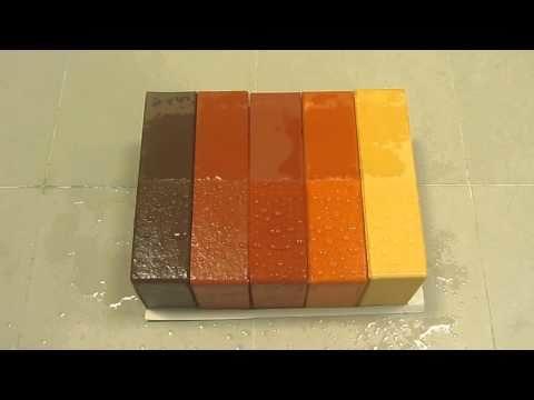 Блоки, покрашенные краской «Бетоксил»