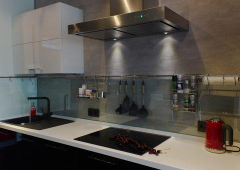Декоративная штукатурка имитация бетона на кухне