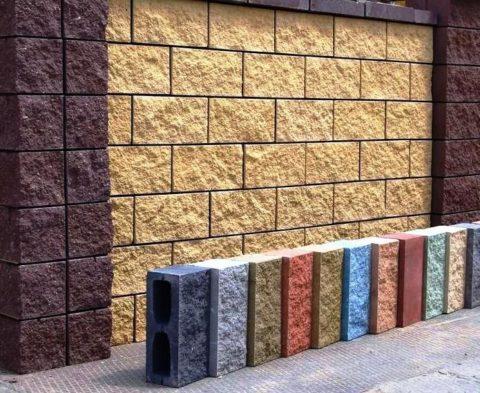 Декоративные блоки для забора, фото