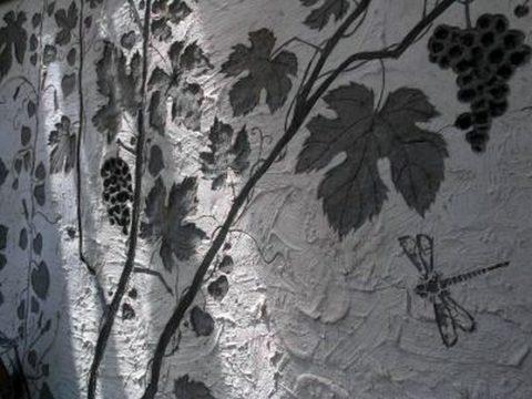 Декорирование искусственной бетонной поверхности при помощи штампов