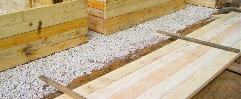 Деревянная опалубка для бетона