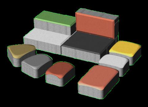 Элементы бетонной брусчатки