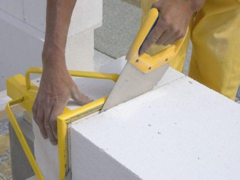 Газобетонные блоки легко обрабатываются