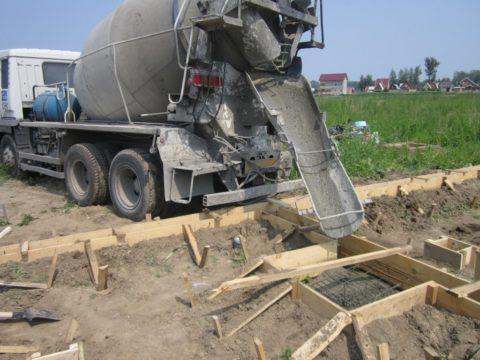 Готовая бетонная смесь по ГОСТ 7473, доставленная на объект