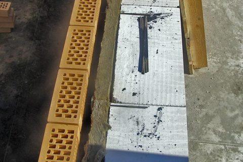 Кладка с вентилируемым зазором и утеплением минеральной ватой