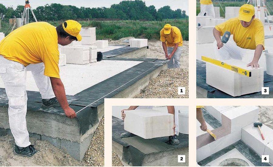 Строительство газосиликатных домов своими руками
