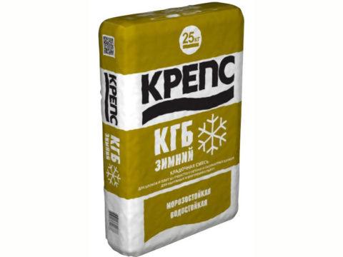 Крепс КГБ с противоморозной добавкой