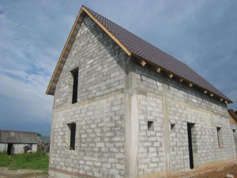 Крыша для дома из газоблоков