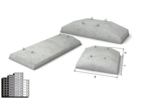 На фото – фундаментные плиты ФЛ