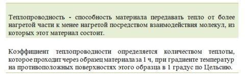 Определение термина «теплопроводность»