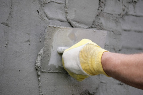 Оштукатуривание пенобетонных стен