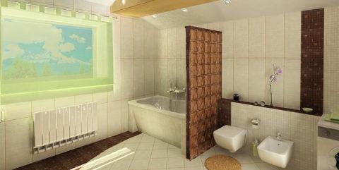 Отделка газобетонных перегородок в ванной комнате плиточными материалами