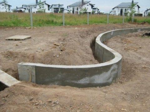 Подпорные бетонные стенки