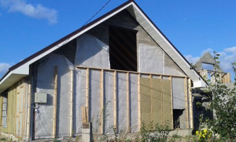 Пример утепления дома из керамзитобетона минеральной ватой