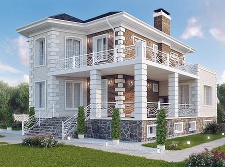Проект – дом с цоколем из газобетона