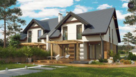 Проект – газобетонный дом на 2 семьи
