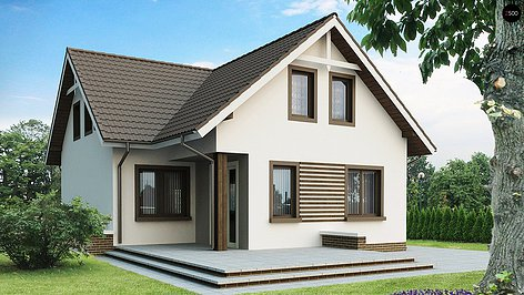 Проект простого дома из газоблоков