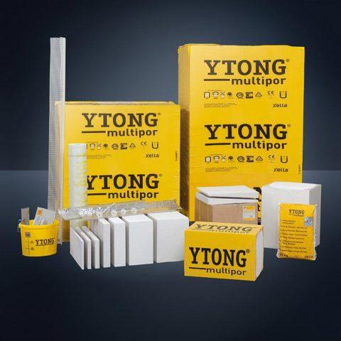 Разнообразие продукции марки «Ytong»