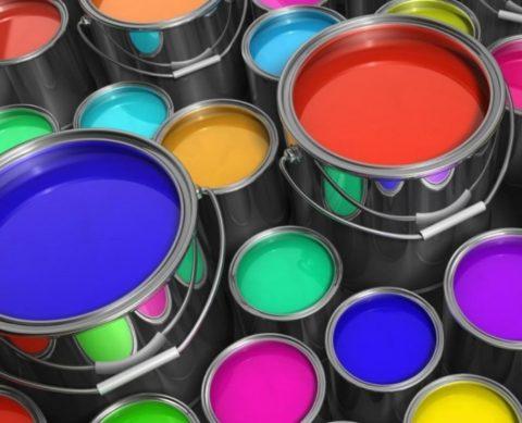 Разнообразие цветов лакокрасочных материалов