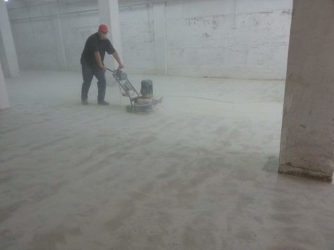 Шлифовка бетонного основания