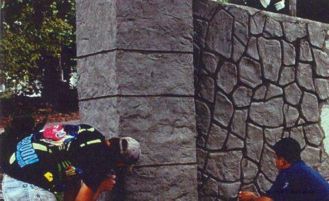 Штукатурка с имитацией натурального камня