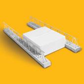 Система сборно-монолитного перекрытия зданий и сооружений из балок и газобетонных блоков