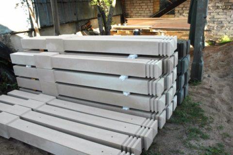 Столбы для бетонных заборов