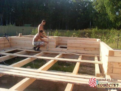 Строительство дома их бруса