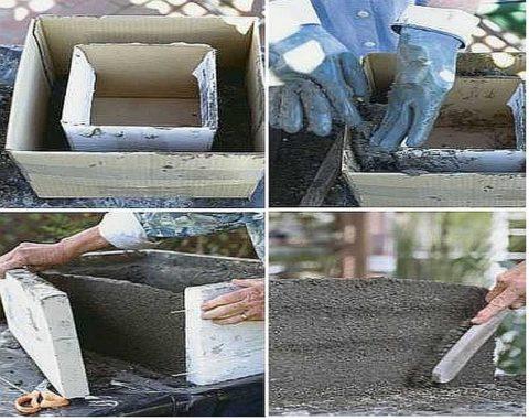 Технология изготовления бетонного вазона