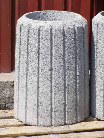 Цветочница бетонная марка В18