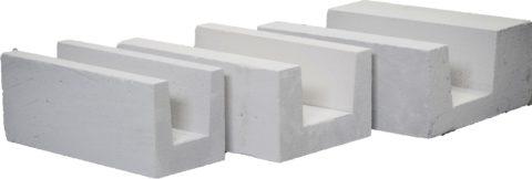 U-блоки. В зависимости от размера цена варьируется от 200 до 380 рублей за штуку