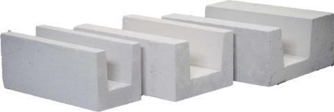 U-образные газобетонные блоки