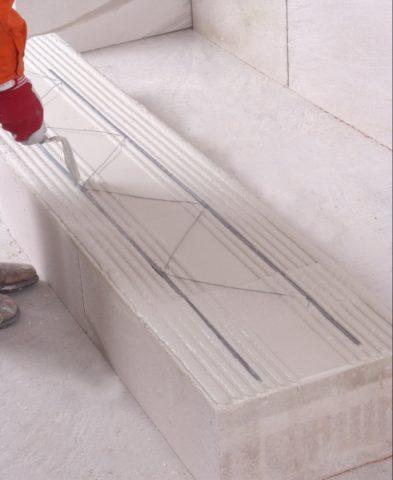 Укладка арматуры для тонких швов