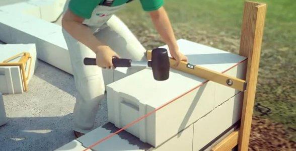 Кладка газобетонного блока своими руками
