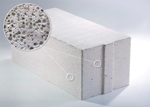 Уникальные теплотехнические характеристики газобетона обеспечиваются ячеистой структурой