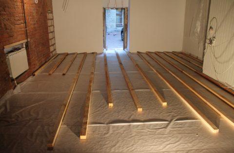 Устройство деревянных лаг