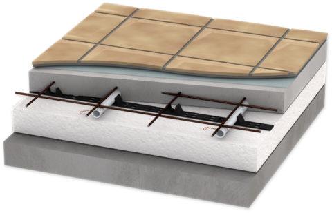 Утепление бетонного пола под керамическую плитку
